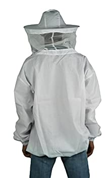 Vivo New Professional White Mediumlarge Beekeepingbee Keeping Suit, Jacket, Pull Over, Smock With A Veil By (Bee-v105) 2
