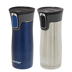 Contigo Autoseal West Loop 2.0 – Vacuum Insulated Stainless Steel Coffee Travel Mug – Keeps Drinks Hot or Cold for Hours…