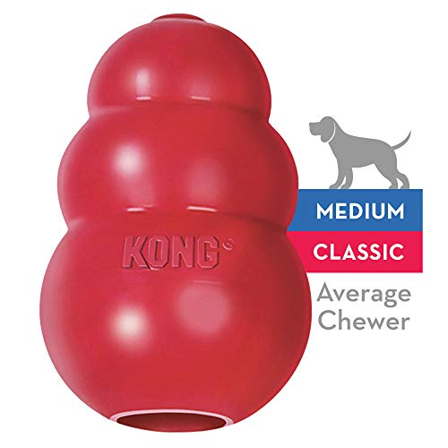 - KONG - Classic Dog Toy - Durable Natural Rubber - Fun to Chew, Chase and Fetch - for Medium Dogs