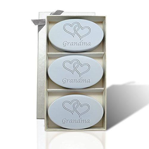 SIGNATURE SPA WILD BLUE LUPIN TRIO:DOUBLE HEARTS FOR GRANDMA by Carved Solutions