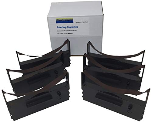 - 6 Compatible er-a470 era-470 UP-600 Cash Register Black POS Printer Ink Ribbon Cartridge Replacement for Sharp IR71 era470 UP600 Fabric Printing Supplies