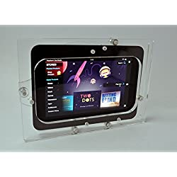 Kindle Fire HD 7 HDX Anti-Theft Clear Acrylic Wall Mount Kit for POS, Kiosk,Show Display, Store Register