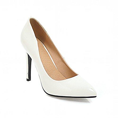 DIMAOL Chaussures Pour Femmes Printemps Automne en Simili Cuir Talon Aiguille Talons Nouveaut