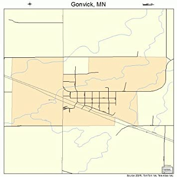 Amazon.com: Large Street & Road Map of Gonvick, Minnesota MN ...