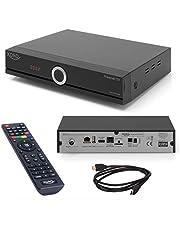 Xoro HRT 8772 HDD Full-HD DVB-C/T2 receiver (HEVC H.265 Twin Tuner, Irdeto Cloaked CA voor Freenet TV, zonder SATA harde schijf in FP-schacht, HDMI, USB PVR Ready, S/PDIF Opt., MiniSCART, 12V) zwart