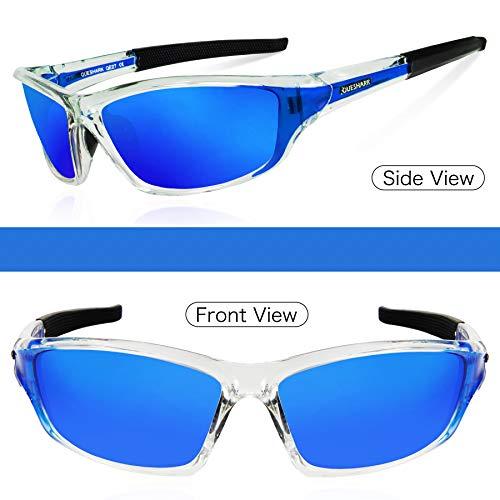 de cyclisme UV400 Queshark pêche hommes lunettes conduite pour femmes Bleu Cristal de soleil course polarisées Lunettes rwUrOP