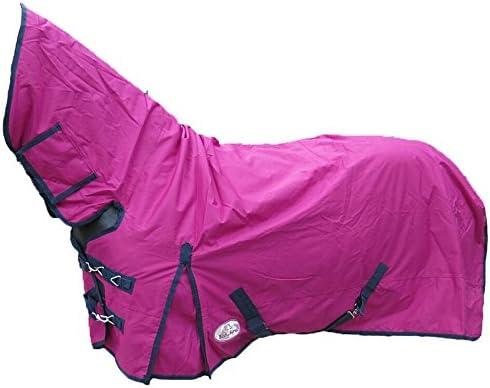 Alfombra de invierno para caballo, transpirable, impermeable, con cuello completo, para caballo