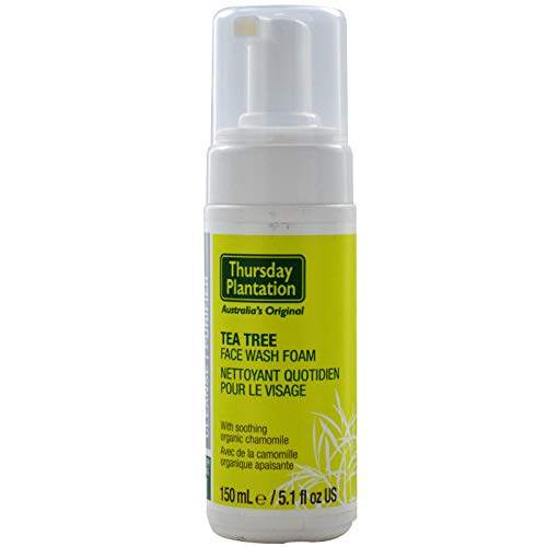 Thursday Plantation Tea Tree Face Wash Foam - 150ml - Removes Build-Up Of Excessive Oils And Other Impurities - Ph Balanced To Minimise Stress To The Skin- Helps To Cleanse Acne Prone Skin - Hong Kong