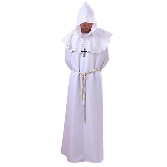 Amazon.com: Medieval Monk Disfraz de renacimiento sacerdote ...