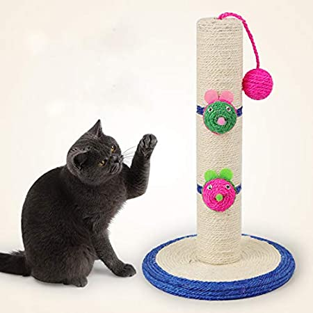 Payaso Pilar Largo Gato Escalada Marco Plataforma Gato Gato Loco Cogiendo Placa Gato Juguetes Dibujos Animados Ratones: Amazon.es: Hogar
