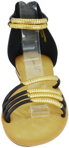Sandales Plates Bonnibel Bonzo-3 Noires Femmes, 8,5 M Us