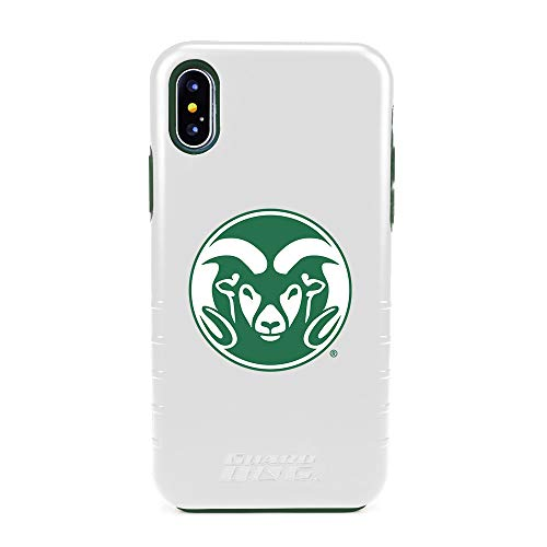 (Guard Dog Colorado State Rams Hybrid Case for iPhone X/Xs - White)