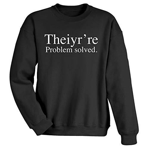 UNIVERSAL DIRECT BRANDS Unisex Theiyr're Problem Solved Sweatshirt - Black - Small