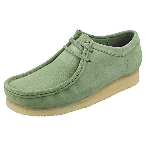 CLARKS Originals Wallabee Mens Wallabee Shoes in Green - 9 UK