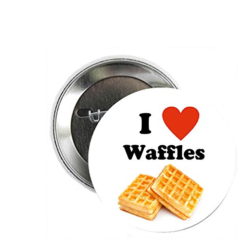 Pinback Love Button (I Love Waffles Pinback Button Pin Food)