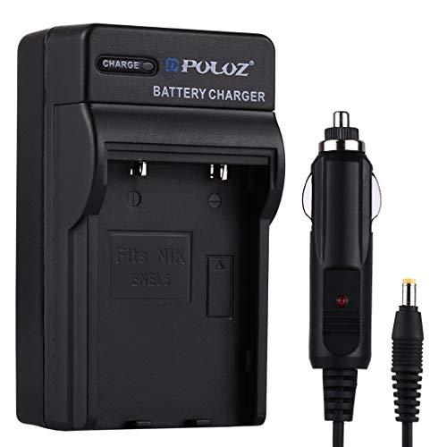 BuyBuyBuy Practical 2 in 1 Digital Camera Battery Car Charger for Nikon EN-EL5 Battery,Size : 8.54.73.8cm Beautiful