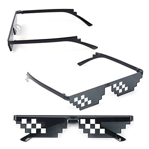 UJuly Black Funny Mosaic Sunglasses Toy for Kids Party Supplies Cool Mischievous Decoration for Men Women Adults by UJuly (Image #7)