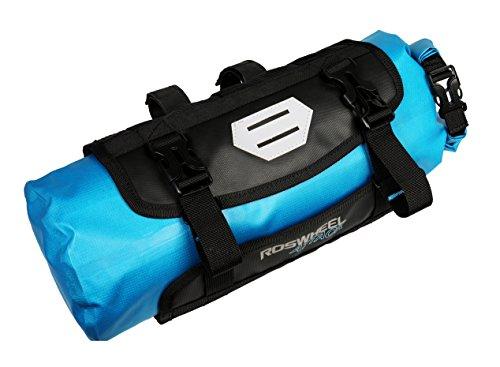 Roswheel Attack Series 111369 Waterproof Adjustable Capacity Bike Bicycle Cycling Handlebar Bag Detachable Dry Pack, Black by Roswheel (Image #1)