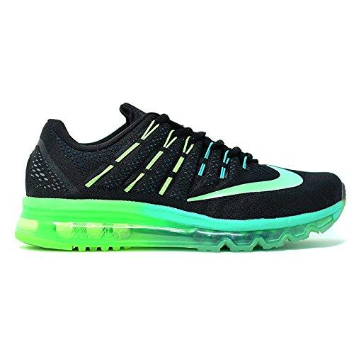 Nike Air Max 2016 Mannen Running Trainers 806.771 Sneakers Schoenen Zwart Metallic Turquoise 003
