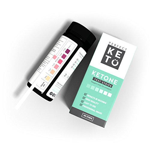 Perfect Keto Ketone Testing Strips: Test Ketosis Levels on Low Carb Ketogenic Diet, 100 ...