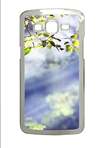 Leaf PC Case Cover for Samsung Grand 2 and Samsung Grand 7106 Transparent