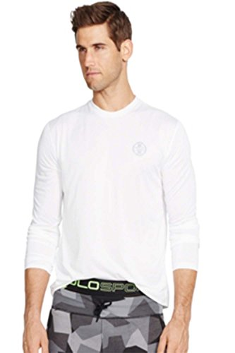 Polo Ralph Lauren Men's Long-sleeved Performance Shirt (Medium, Pure White)