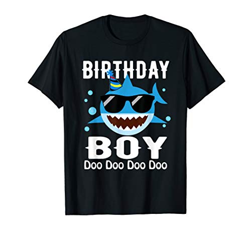 Birthday Boy doo doo doo Funny Birthday shark doo Shirt]()