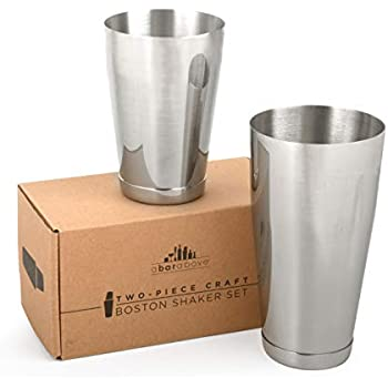 Brushed Finish, 1 Pair 28oz 28oz. /& 18oz. /& 18oz. Pi/ña Barware Stainless Steel Commercial Bar Boston Shaker Tin Set