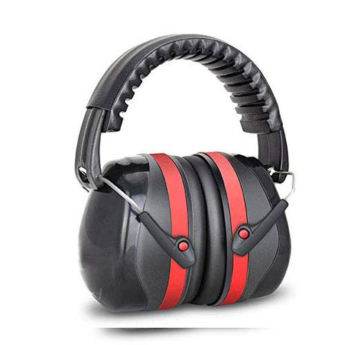 Noise Reduction Safety Ear Muffs, NRR 32dB Professional Ear Defenders for Shooting, Hearing Protector Fits Adults to Kids, Red & Black EAREST