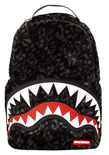 Sprayground - Unisex Adult Dlx Fur W/Rubber Shark Backpack, Size: O/S, Color: Multi