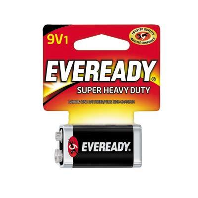 (Eveready Battery 1222SW 9V Super Heavy-Duty Carbon Zinc Battery - Quantity 18)