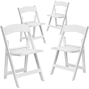 amazon com hercules series capacity resin folding chair set of 4
