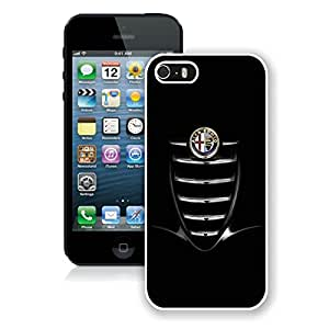 Personalized Alfa romeo logo 1 iPhone 5 5s 5th Generation Phone Case in White