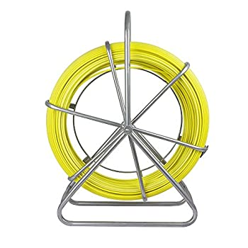 Image of ECO-WORTHY Fish Tape Fiberglass 6MM 425FT Reel Wire Cable Running Rod Duct Rodder Fishtape Puller