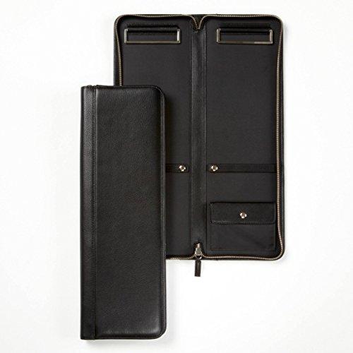 Italian Leather Tie Case (Tie Case - Full Grain Leather - Black Onyx (black))