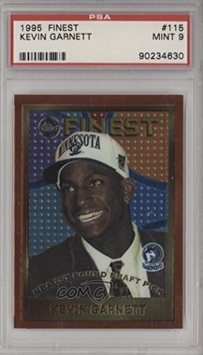 Kevin Garnett Graded PSA 9 MINT (Basketball Card) 1995-96 Topps Finest - [Base] #115