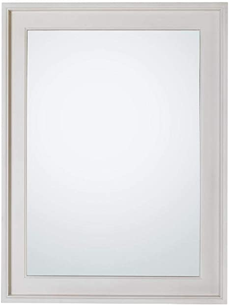 Amazon Com Home Decorators Collection Chennai 24 In W X 32 In H Framed Bath Mirror In White Wash Home Kitchen