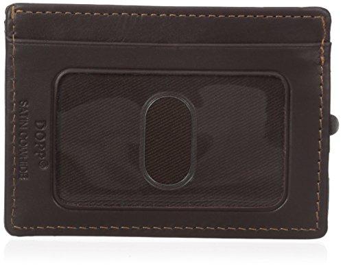 Dopp Men's Regatta Zipper Billfold Wallet, Mahogany, One (Mahogany Money Clip)