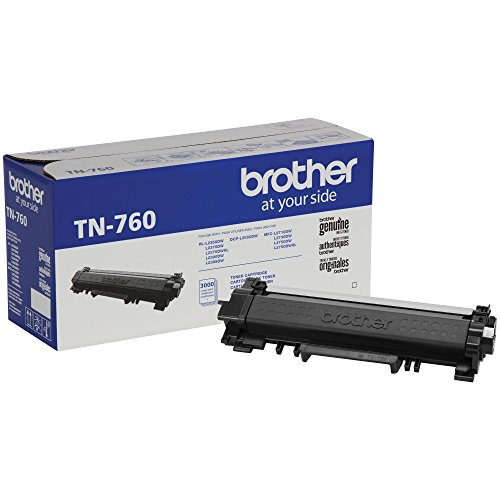 Brother Genuine High Yield Toner Cartridge, TN760, Replacement Black Toner, Page Yield up to 3,000 Pages, Amazon Dash Replenishment Cartridge by Brother