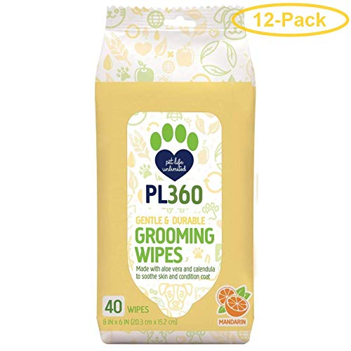 PL360 Grooming Wipes 40 Count - Pack of 12