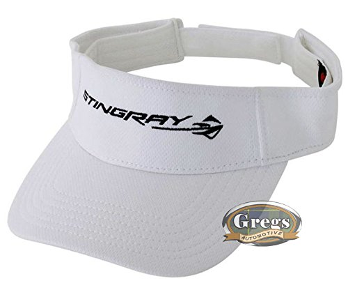 (Gregs Automotive Corvette Stingray Visor Hat White - Bundle with Driving Style)