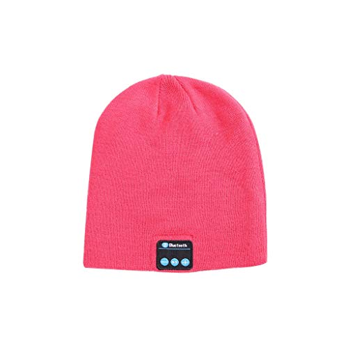 Wokasun.JJ Bluetooth Music Hat with Stereo Headphone Headset Speaker Wireless Warm Beanie (180 Baseball)