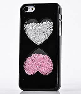 diy phone caseiphone 4/4s Case, Wendy's Stores(TM) Colorful Deluxe Bling Moving Diamond Rhinestone Shell Durable Hard Crystal Back Case Cover [ for Apple iphone 4/4s Verizon, AT&T Sprint, T-mobile, Unlocked ] (Black Hearts)diy phone case