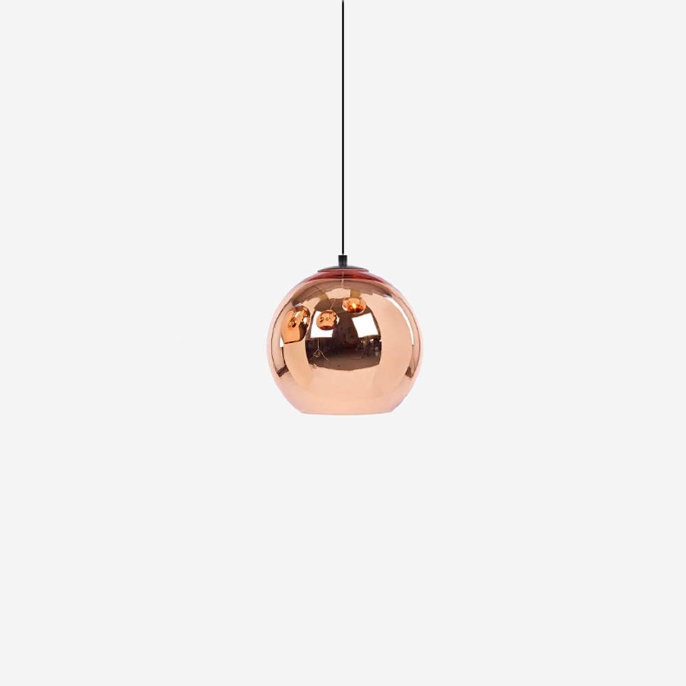 Qyyru Modern Creativity Chandelier Hollow Chrome Finish Spherical Lampshade Simple Kitchen Island Hanging Lighting Fixture Store Display Pendant Light Decoration Ceiling Surface Mount E27/E26 Base