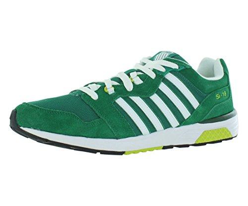 Mesh Green Stripe Sneakers - 7