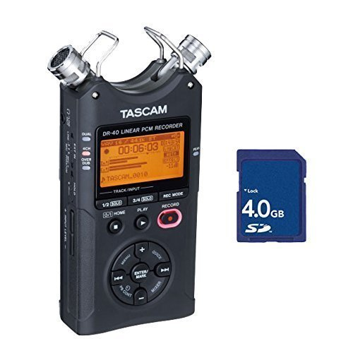 Tascam DR-40 V2 Version 2 Linear PCM Recorder with 4GB SD