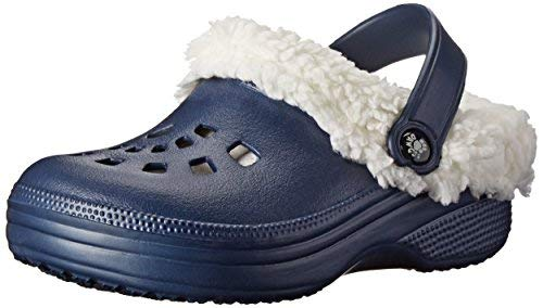 DAWGS Fleecedawgs Clog (Toddler/Little Kid), Navy/White, 6 M US Toddler