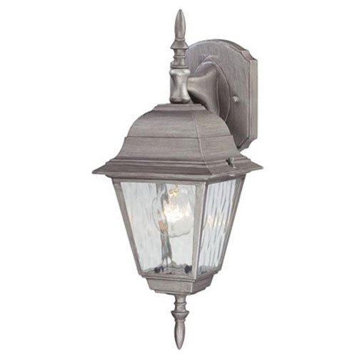 Westinghouse Outdoor Wall Lantern Fix A19 16-3/4 In. Antique Silver Finish Bx (Antique Silver Lantern)