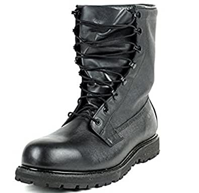 Combat Boot, Gore-Tex Intermediate Cold/Wet Weather Black Leather, Genuine U.S. Military Issue (9.5 W)
