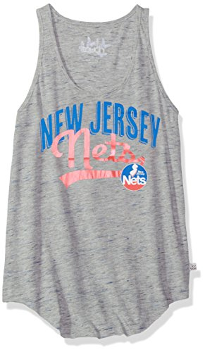 Touch by Alyssa Milano NBA New Jersey Nets Rookie Tank, Large, Heather Grey